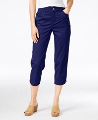 Styleandco. Style Co. Petite Capri Pants Only At Macy's Industrial Blue