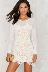 Nasty Gal Blossom More Lace Dress