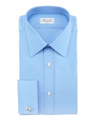 Charvet Poplin French Cuff Shirt Blue 40.5 16L