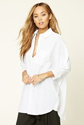 Forever 21 Dolman Button Front Shirt