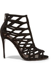 Dolce And Gabbana Keira Suede Sandals Black