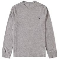 Polo Ralph Lauren Long Sleeve Custom Fit Crew Tee Blue