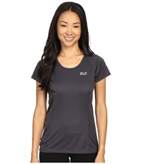 Jack Wolfskin Passion Trail Crew Neck Tee Ebony Women's T Shirt Black