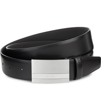 Hugo Boss Baxton Leather Belt Black