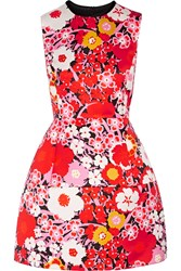 Victoria Beckham Floral Print Satin Mini Dress