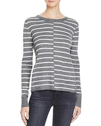 Paige Allie Stripe Sweater Heather Grey Light Grey
