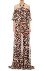 Derek Lam Chiffon Maxi Dress Nude