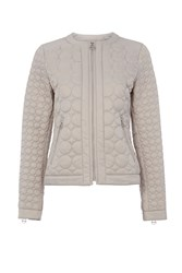 Dawn Levy Quilted Zip Jacket Pewter