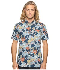 Vans Whitlowe Floral Short Sleeve Woven Acid Floral Men's Clothing Multi