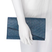 August The Chelsea Clutch Teal Fish