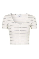 Cropped Striped Top By Glamorous Petites White
