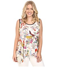Karen Kane Plus Size Handkerchief Tank Top Print Women's Sleeveless Multi