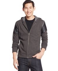 Inc International Concepts Virgo Full Zip Hoodie Only At Macy's Charcoal Heather