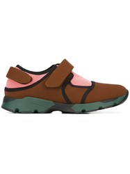 Marni Neoprene Velcro Strap Trainers Brown