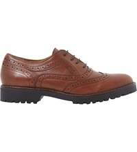 Dune Fawne Leather Brogues Tan Leather