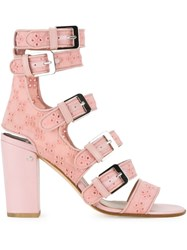 Laurence Dacade 'Dana' Eyelet Sandals Pink And Purple