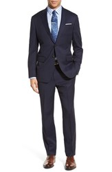 Todd Snyder Men's White Label 'May Fair' Trim Fit Stripe Wool Suit Navy Stripe