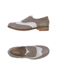 Khrio' Lace Up Shoes Dove Grey