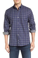 Tailorbyrd Men's Big And Tall 'Lamborghini' Regular Fit Check Sport Shirt Purple