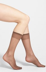 Plus Size Women's Nordstrom Sheer Knee High Socks Mocha Beige