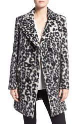 Rebecca Minkoff Women's 'Luke' Leopard Print Wool Blend Coat