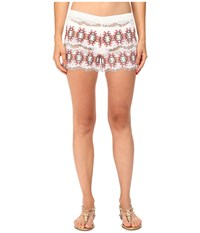 Queen And Pawn Kea Lace Embroidered Shorts White Pink