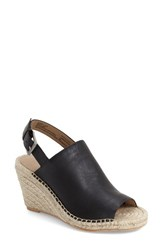 Women's Caslon 'Sutton' Slingback Mule Black Leather