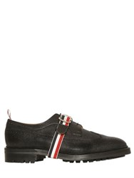 Thom Browne Belted Pebble Leather Derby Shoes