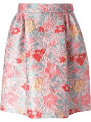 Antonio Marras Brocade Baloon Skirt Blue