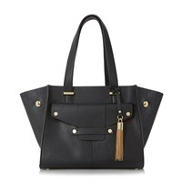 Dune Dinidornan Mini Raw Edge Shopper Bag Black