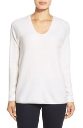 Women's Nordstrom Collection V Neck Cashmere Sweater Ivory Soft