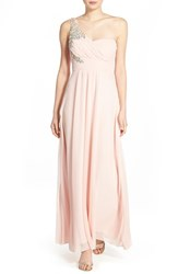 Women's Sequin Hearts 'Shayla' Embellished One Shoulder Gown