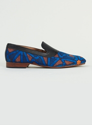 Topman House Of Hounds Bailey Blue And Orange Printed Loafers