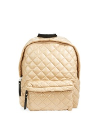Steve Madden Quilted Backpack Taupe