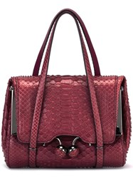 Ermanno Scervino Strap Detail Tote Bag Pink Purple