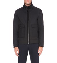 Reiss Battle Shell Jacket Black