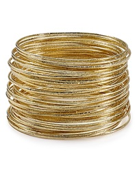 Abs By Allen Schwartz Bangles Set Of 50 Gold