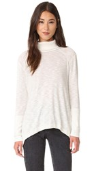 Free People Long Sleeve Turtleneck Ivory