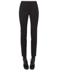 Akris Punto Maike Pleated Front Tapered Pants Black