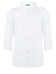 Dash Roll Up Sleeve Jersey Top White