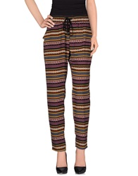 Orion London Casual Pants Purple