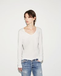 Organic By John Patrick V Neck Tee White
