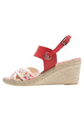 Pare Gabia Talma Wedge Sandals Rouge Red