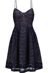Joie Solandra Lace Dress Midnight Blue
