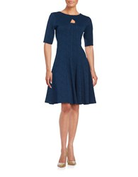 Gabby Skye Knit Fit And Flare Dress Ink