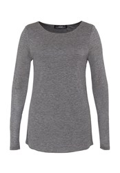 Hallhuber Long Sleeve With Bat Neckline Grey