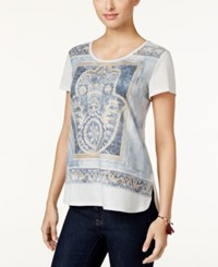 Styleandco. Style Co. Graphic T Shirt Only At Macy's Bright White