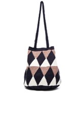 Sophie Anderson Caro Tote In Blue Geometric Print Blue Geometric Print