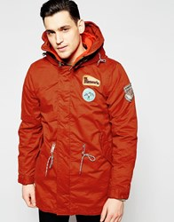 Scotch And Soda Classic Parka Jacket Red