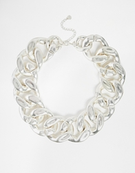 Pieces Harion Extra Large Chunky Chain Necklace Silver